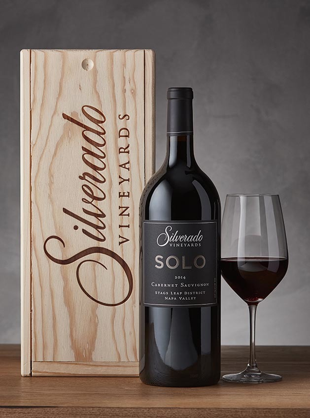 SOLO Cabernet Saugivnon Magnum with Wood Box